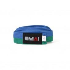 Пояс для дзюдо SMAI зелено/синий