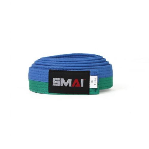 Пояс для кимоно SMAI (зелено/синий)