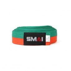 Пояс для дзюдо SMAI оранжево/зеленый