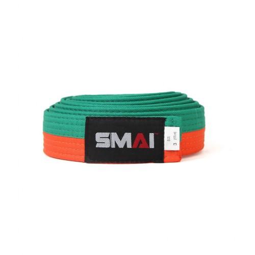 Пояс для кимоно SMAI (оранжево/зеленый)