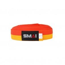 Пояс для дзюдо SMAI желто/оранжевый