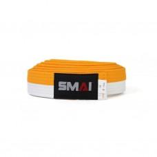 Пояс для дзюдо SMAI бело/желтый