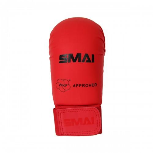 Перчатки для карате Smai с лицензией WKF (красный)
