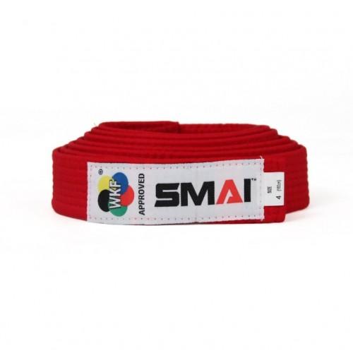 Пояс для кимоно Smai Delux Version с лицензией WKF (красный)