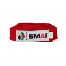 Пояс для кимоно Smai с лицензией WKF (красный)