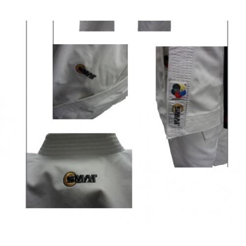 """Кимоно для каратэ SMAI """"GOLD KATA GI"""" 14 OZ с лицензией WKF (белое)"""