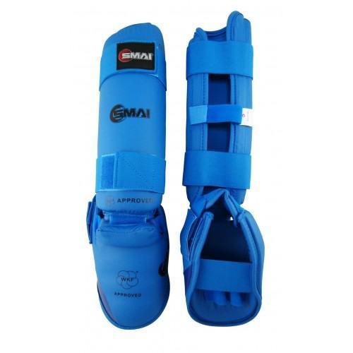 Защита голени и стопы SMAI WKF синие- SMAI