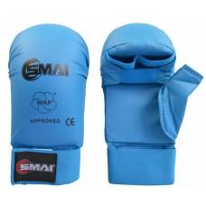 Перчатки для карате SMAI с защитой большого пальца. Цвет синий. Одобрено WKF- SMAI