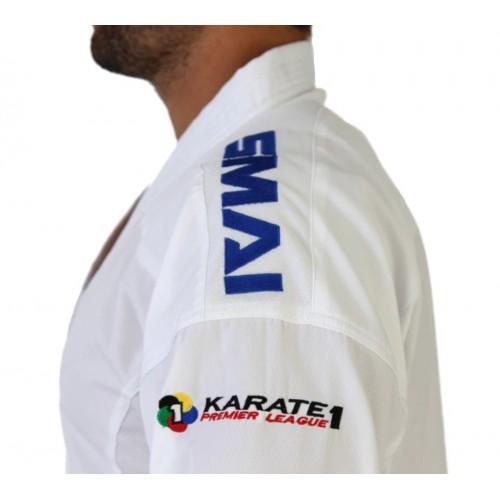 """Кимоно для каратэ SMAI """"JIN KUMITE GI ELITE"""" с лицензией WKF (синие полосы на плечах)"""