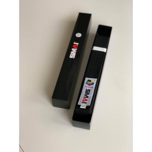 Пояс для кимоно Smai Delux Version с лицензией WKF (черный)