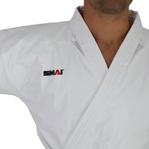 """Кимоно для каратэ Smai """"Ultimate Gi"""" 14 OZ с лицензией WKF (белое)"""